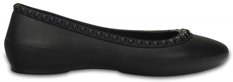 Crocs Lina Luxe Flat - Black, W6 (36-37)