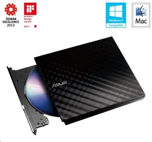 ASUS DVD SDRW-08D2S-U LITE/BLACK, External Slim DVD-RW, black, USB (90-DQ0435-UA221KZ) 90-DQ0435-UA221KZ