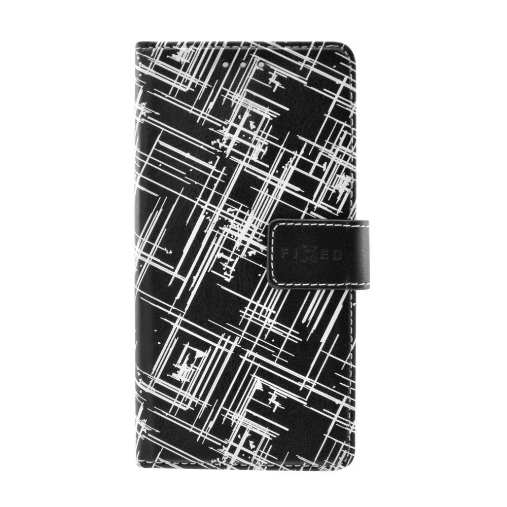 Pouzdro typu kniha FIXED Opus pro Huawei Y3 II, motiv White Stripes FIXOP-97-WS