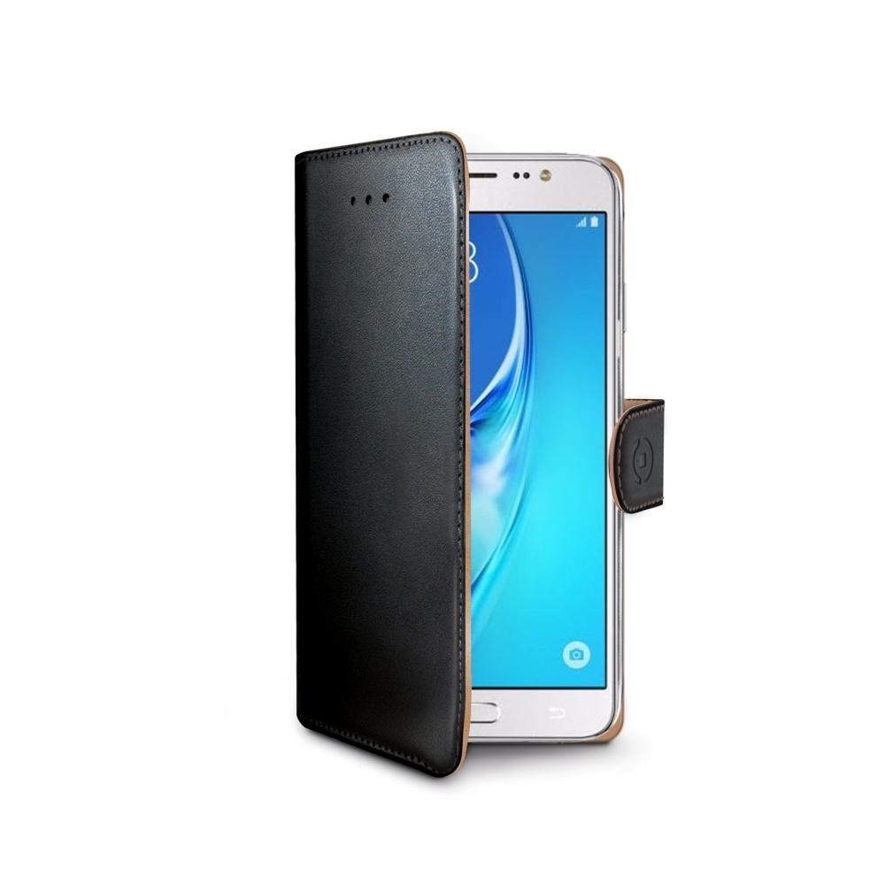 Pouzdro typu kniha Celly Wally pro Samsung Galaxy J5 (2016), černé WALLY557