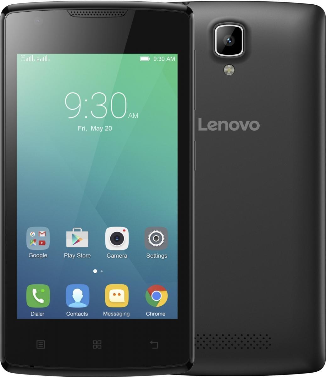 """Lenovo Smartphone A Single SIM/4,0"""" TN/800x480/Quad-Core/1,3GHz/512MB/4GB/5Mpx/3G/Android 5.0/černý (PA490137CZ) - černý PA490137CZ"""