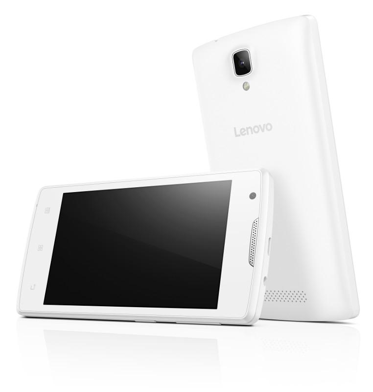 "Lenovo Smartphone A Single SIM/4,0"" TN/800x480/Quad-Core/1,3GHz/512MB/4GB/5Mpx/3G/Android 5.0/Bílý (PA490145CZ) PA490145CZ"