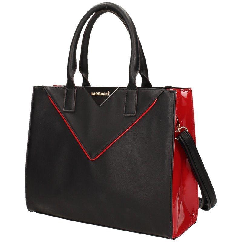Monnari kabelka s barevnými boky - Černo-červená