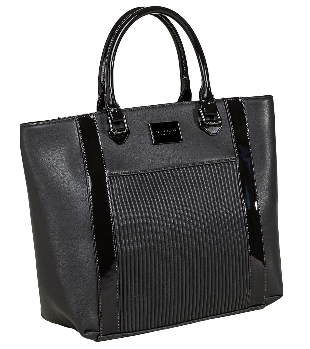 Monnari kabelka s pruhy, černá