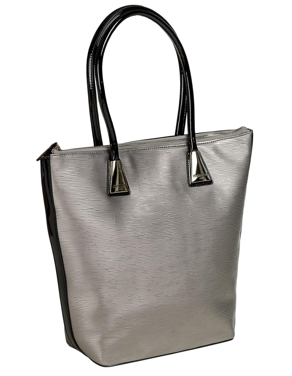 Monnari shopper kabelka - stříbrná