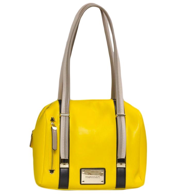 Monnari kabelka s výrazným designem, žlutá