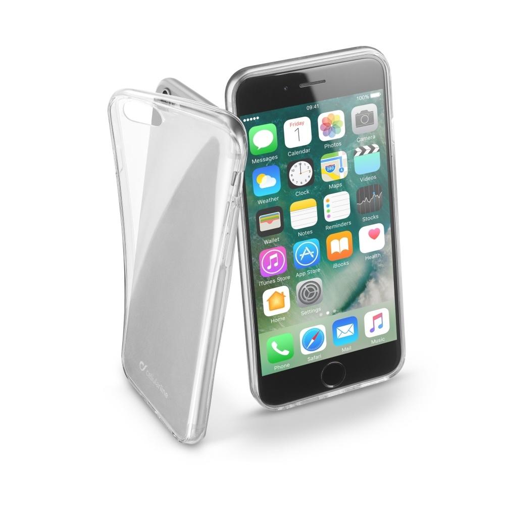 Silikonový obal CellularLine Fine pro Apple iPhone 7/8, čirý FINECIPH747T