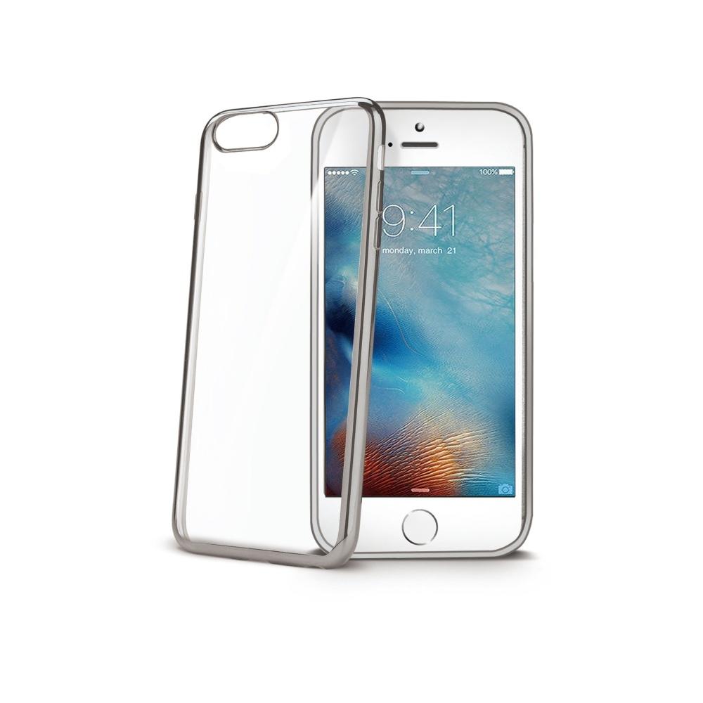 Obal Celly Laser pro Apple iPhone 7 - Stříbrný LASER800SV