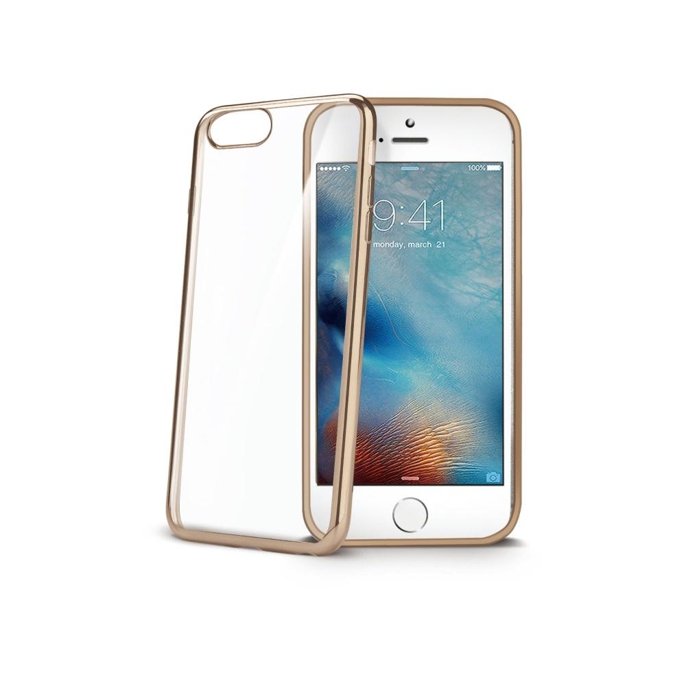 Obal Celly Laser pro Apple iPhone 7 - Zlatý LASER800GD