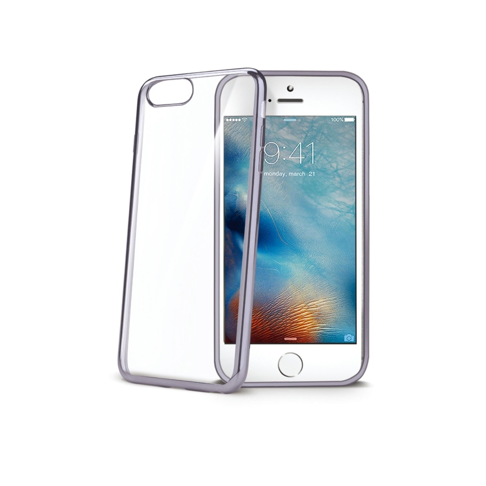 Obal Celly Laser pro Apple iPhone 7 - Černý LASER800DS