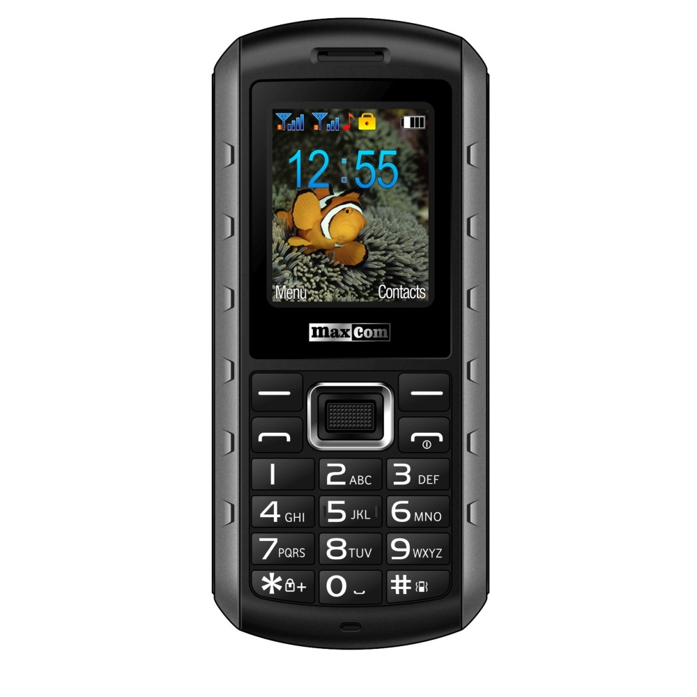 Odolný mobilní telefon Maxcom MM901, certifikace IP67, černý MM901 black