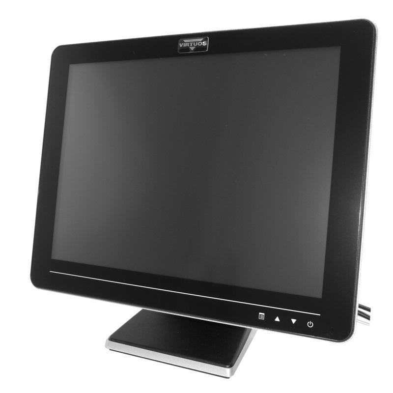 15 LCD AerAM-1015-FR5-250AV3,rezist,touch,černý (EAPOSA0802)