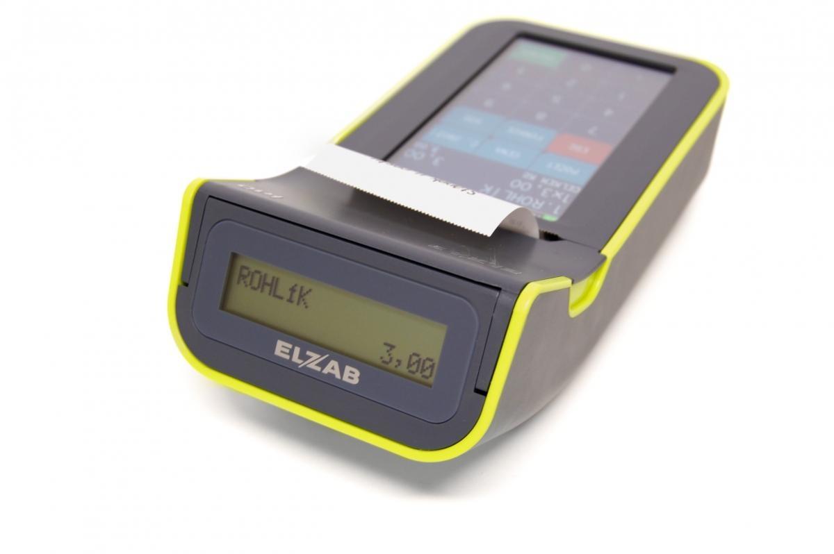 Pokladní systém Elzab K10 s WiFi pro EET, šedo-zelený