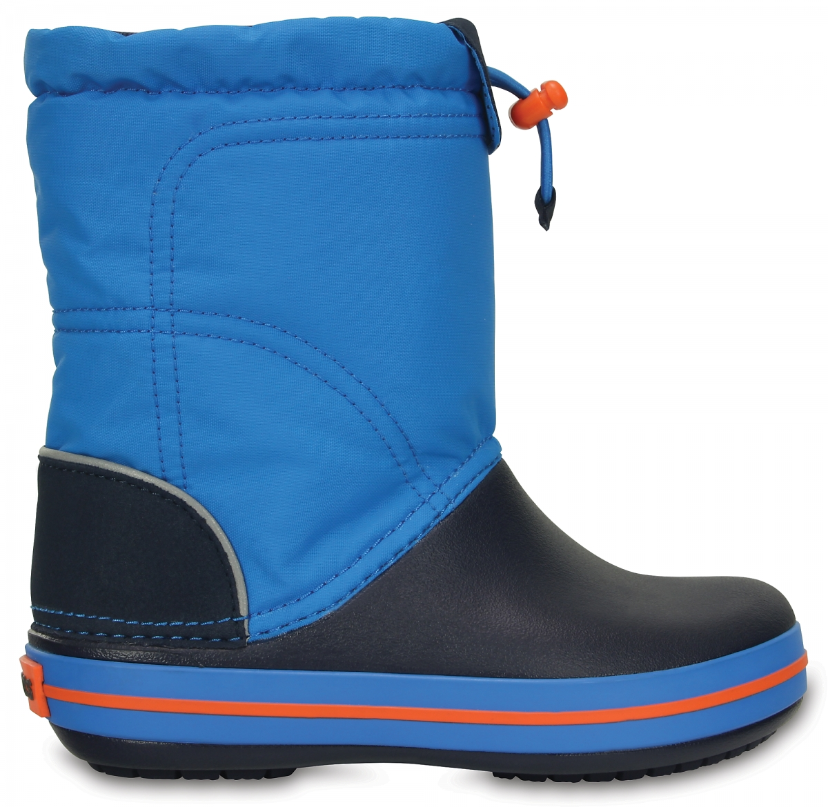 Crocs Crocband LodgePoint Boot Kids - Ocean/Navy, C11 (28-29)