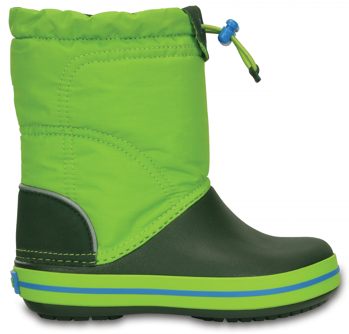 Crocs Crocband LodgePoint Boot Kids - Lime/Forest Green, C10 (27-28)