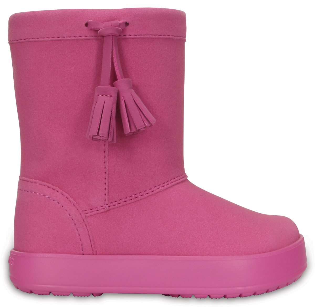 Crocs LodgePoint Boot Kids - Party Pink, C11 (28-29)