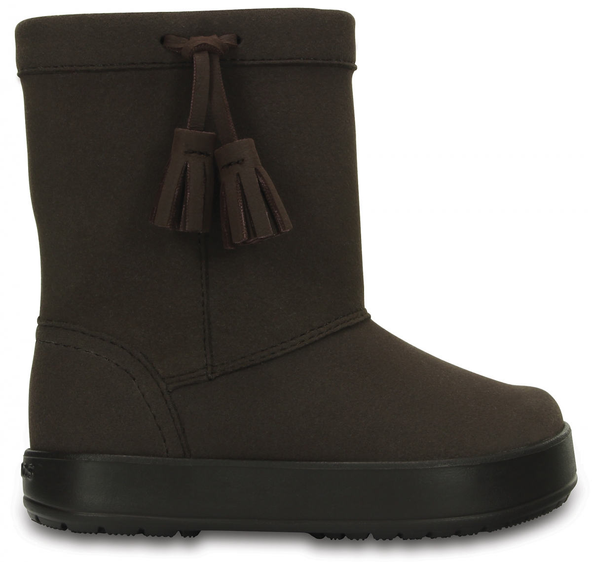 Crocs LodgePoint Boot Kids - Espresso, C10 (27-28)