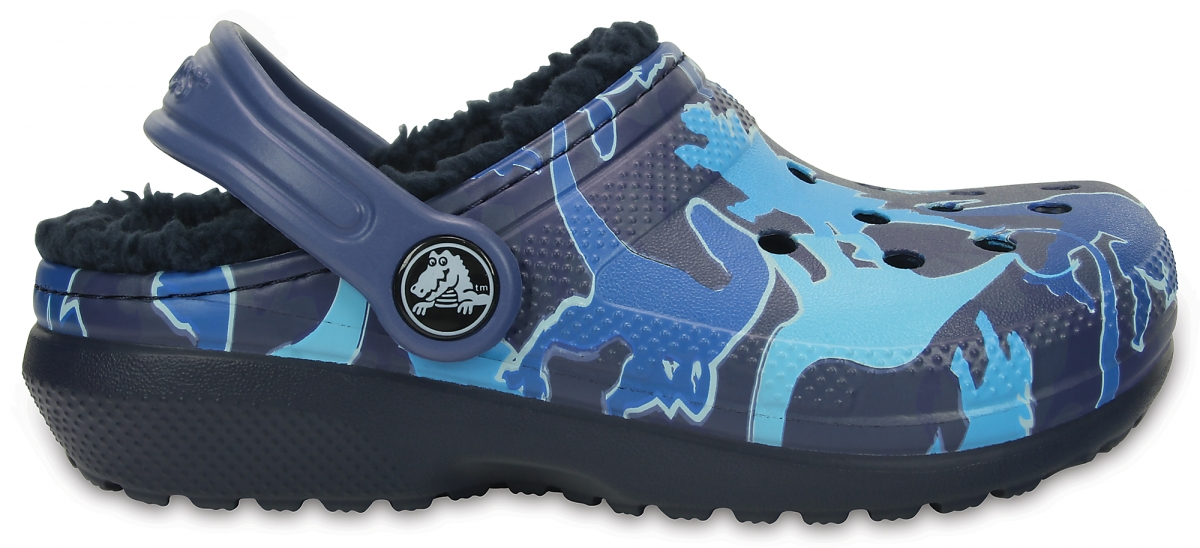 Crocs Classic Lined Graphic Clog Kids - Blue Camo, C12 (29-30)