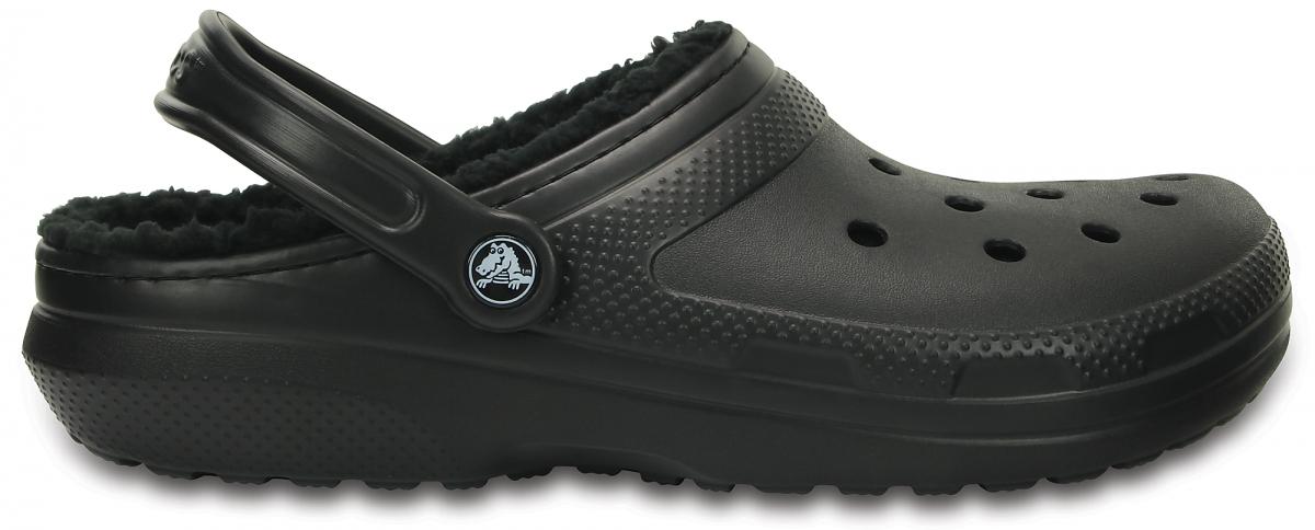 Crocs Classic Lined Clog - Black, M5/W7 (37-38)