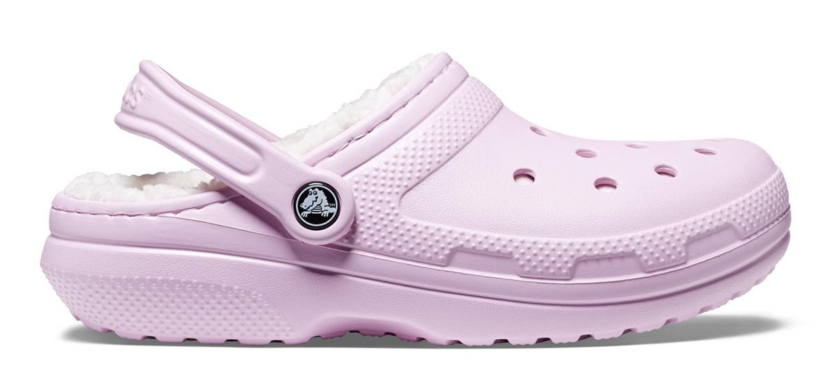 Crocs Classic Lined Clog - Ballerina Pink/Oatmeal, M5/W7 (37-38)