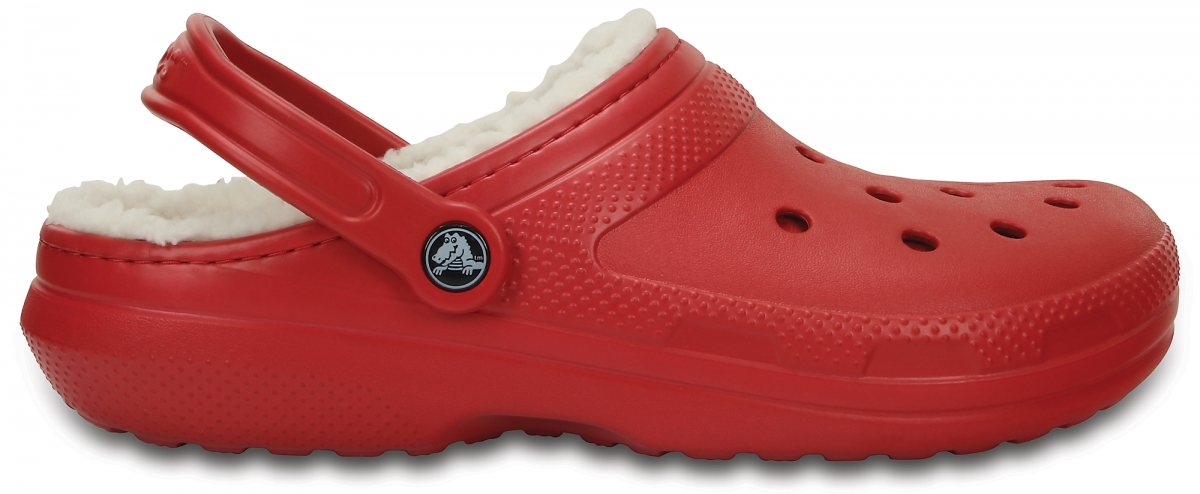 Crocs Classic Lined Clog - Pepper/Oatmeal, M5/W7 (37-38)
