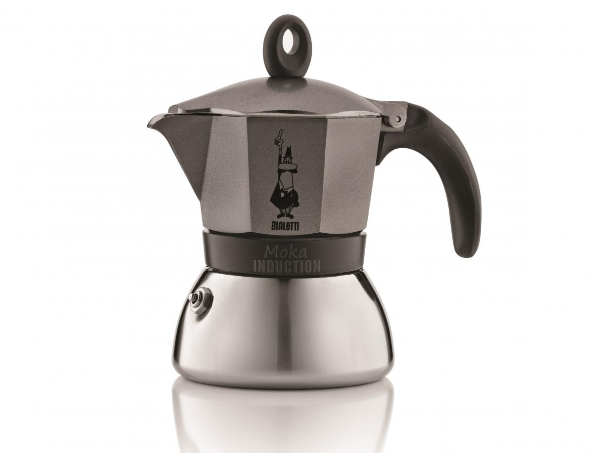 Bialetti hliníkový kávovar Moka Induction, 6 šálků, antracit