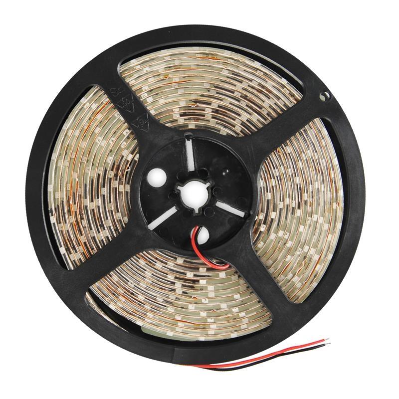 WE LED páska voděodolná 5m   60ks/m   3528   4,8W/m   3000K teplá bílá bez kon 08379