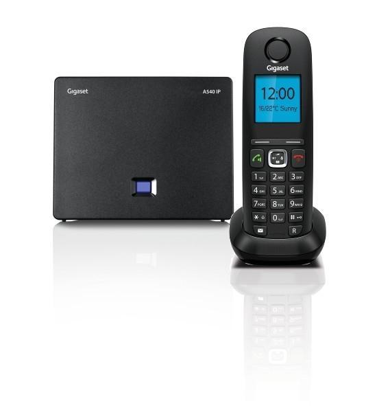 Bezdrátový IP telefon Gigaset A540 IP, DECT/GAP bezdrátový IP telefon, barva černá GIGASET-A540IP