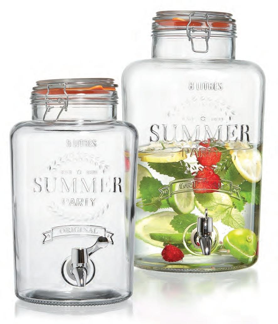 Ritzenhoff & Breker nápojový demižón s kohoutkem Cool Summer, 8 litrů
