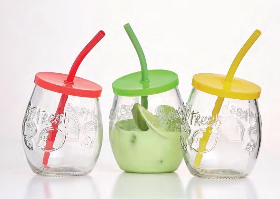 Ritzenhoff & Breker sklenic se slámkou Cool Summer, 430 ml, 3 ks