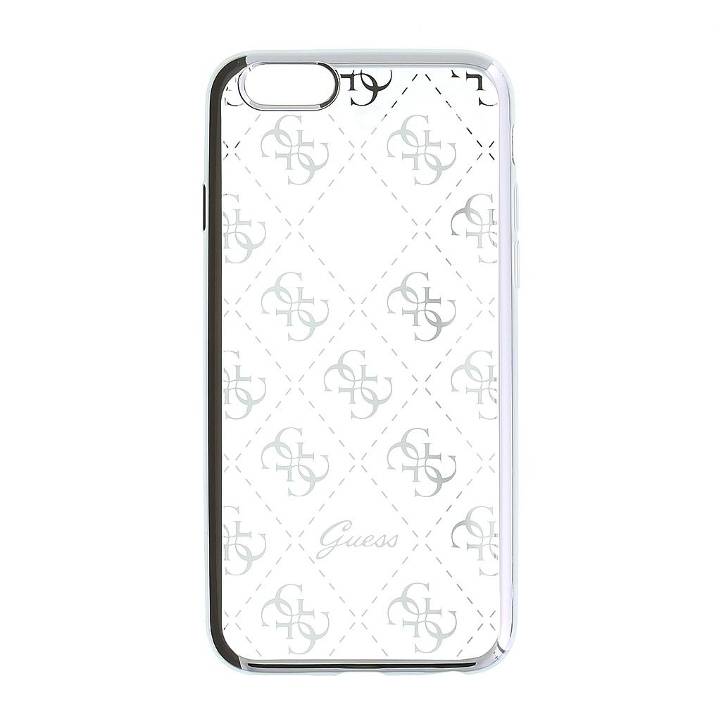 Zadní kryt Guess 4G TPU GUHCPSETR4GSI pro iPhone 5/5S/SE - stříbrný GUHCPSETR4GSI