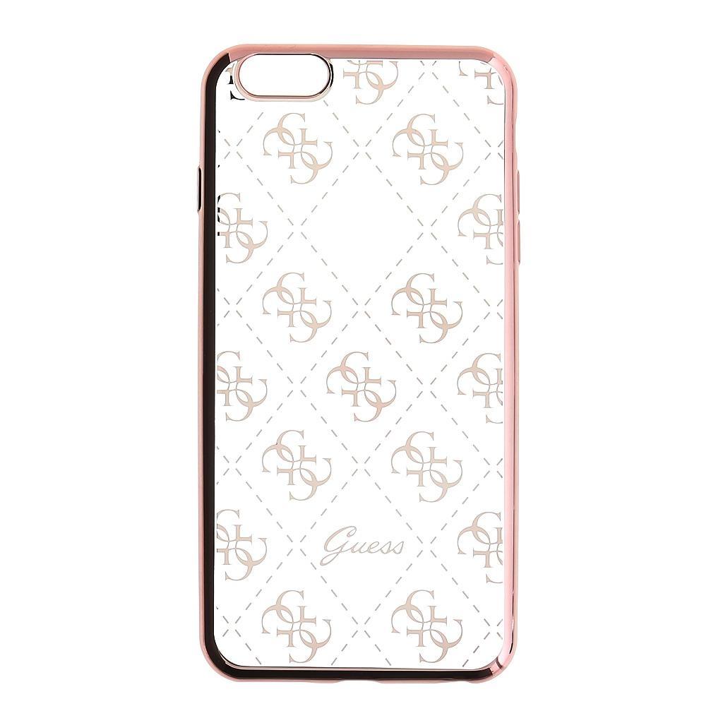 Zadní kryt Guess 4G GUHCP6TR4GRG pro Apple iPhone 6/6S/7 - růžovo-zlatý