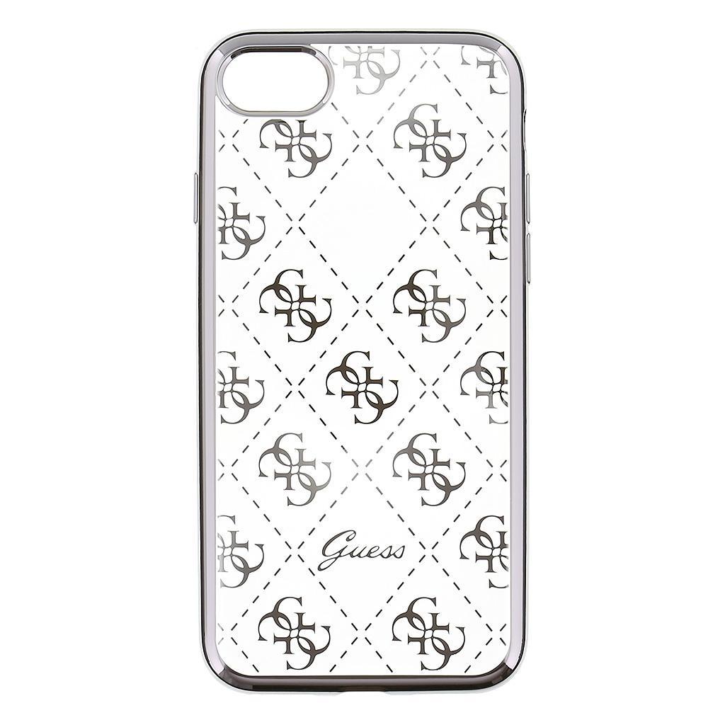 Zadní kryt Guess 4G TPU GUHCP7TR4GSI pro iPhone 7 - stříbrný