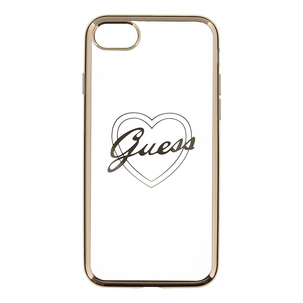 Zadní kryt Guess Heart TPU GUHCP7TRHG pro iPhone 7 - zlatý