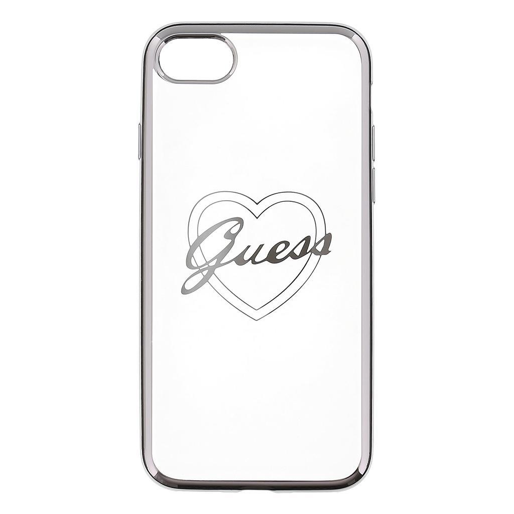 Zadní kryt Guess Heart TPU GUHCP7TRHS pro iPhone 7 - stříbrný