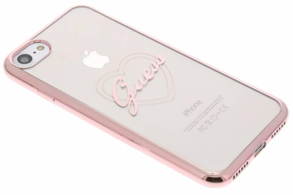 Zadní kryt Guess Heart TPU GUHCP7LTRHRG pro iPhone 7 Plus - růžovozlatý