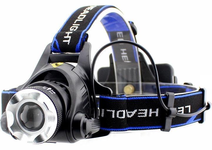 Čelová LED svítilna HLED-36 se zoomem a naklápěním, 10 W