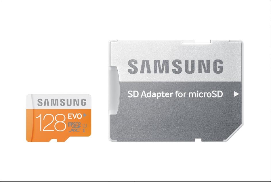 Micro SDXC 128GB Samsung EVO class 10 + adaptér MB-MP128DA/EU