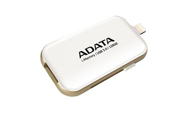 USB flash paměť ADATA UE710 s konektorem Lightning pro Apple, 128GB - bílý AUE710-128G-CWH