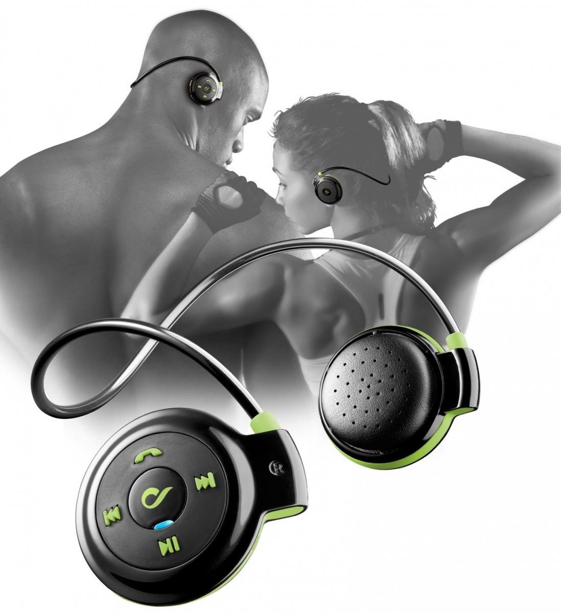 Sportovní bezdrátová sluchátka CellularLine Scorpion On-Ear, Bluetooth, černo-zelená BTSCORPON