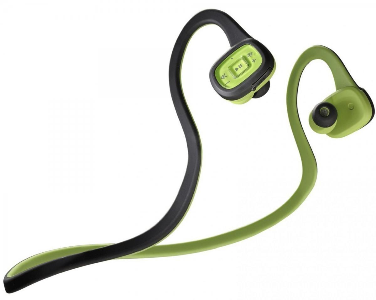 Sportovní bezdrátová sluchátka CellularLine Scorpion In-ear, Bluetooth, černo-zelená BTSCORPINK