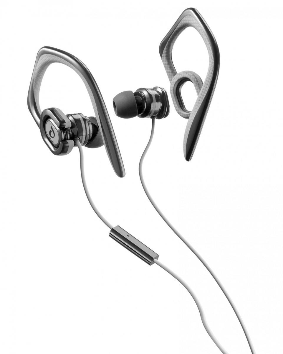 Sportovní sluchátka CellularLine Grasshopper s mikrofonem, 3,5 mm jack, černá GRASSHOPPERK