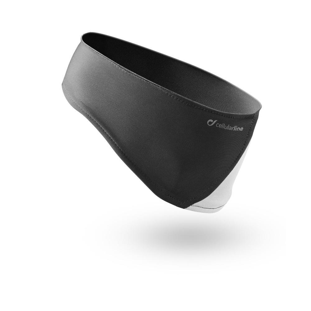 Sportovní čelenka s integrovanými sluchátky Cellularline Earband Running, černá EARBANDK