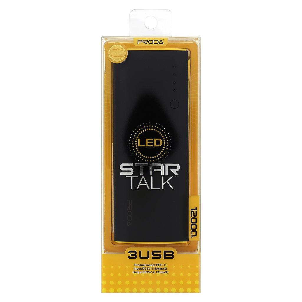 Remax RPP-11 Proda Star Talk PowerBank 12000mAh - černo-žlutá RPP-11