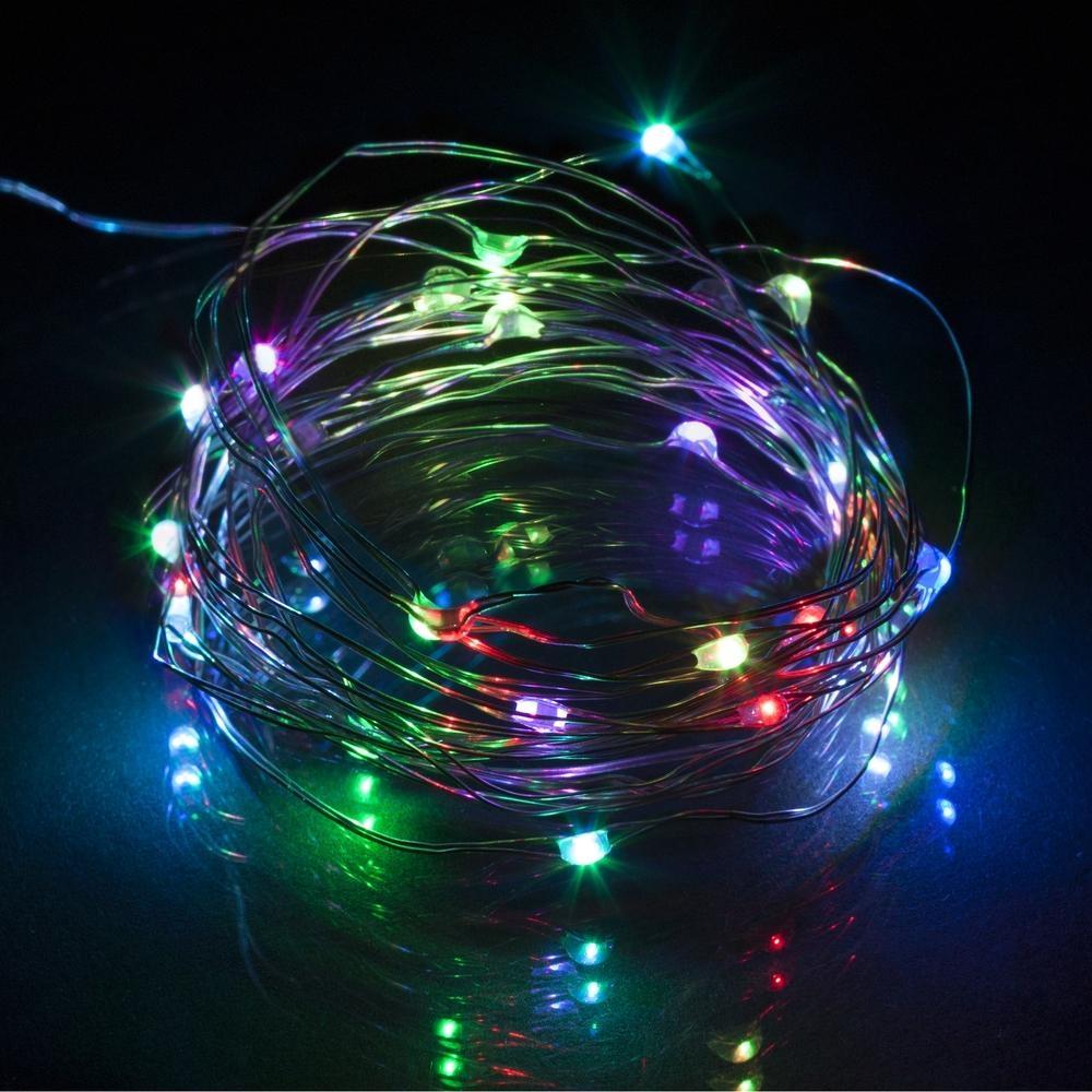 Vánoční LED řetěz Retlux RXL 32, 30 LED, barevné, 3 m, na baterie