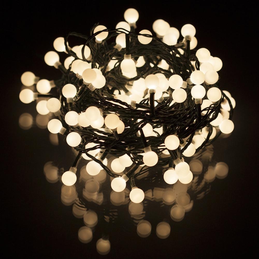 Vánoční LED řetěz Retlux RXL 5, 150 LED CAP, IP44, teplá bílá, 15+5 m