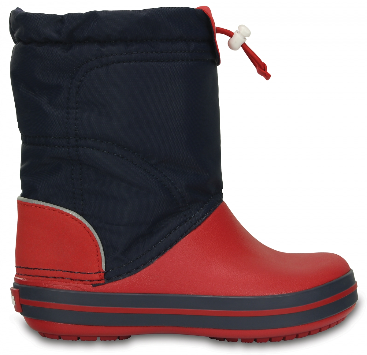 Crocs Crocband LodgePoint Boot Kids - Navy/Red, C10 (27-28)