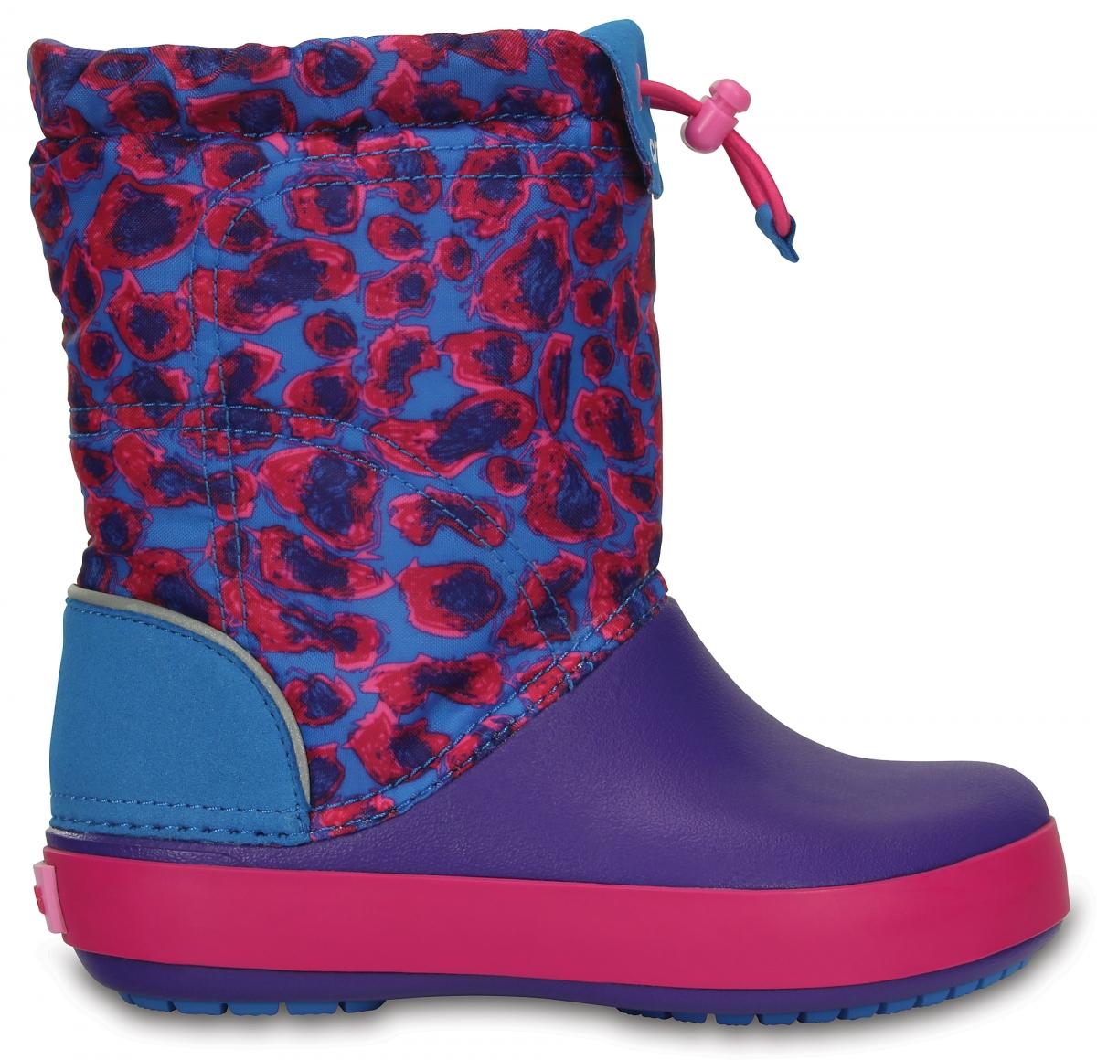 Crocs Crocband LodgePoint Graphic Boot Kids Leopard, J1 (32-33)
