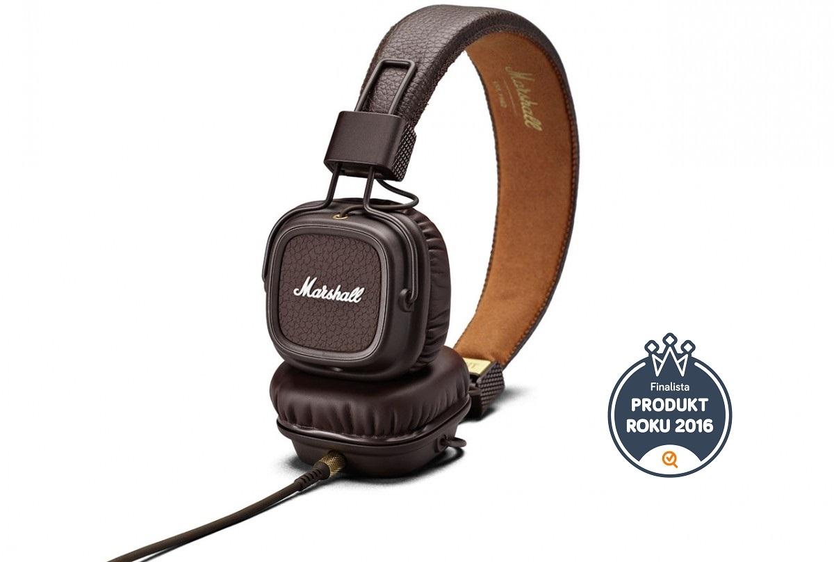 Marshall Major II Brown náhlavní sluchátka s mikrofonem - hnědá