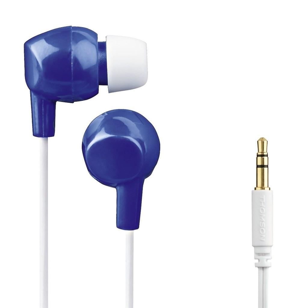 Dětská sluchátka Thomson EAR3106, silikonové špunty - modrá/bílá